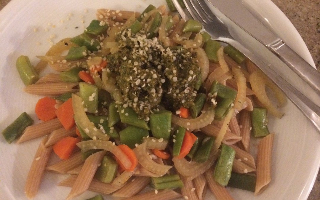 Vegetable Pasta with Hemp Pesto