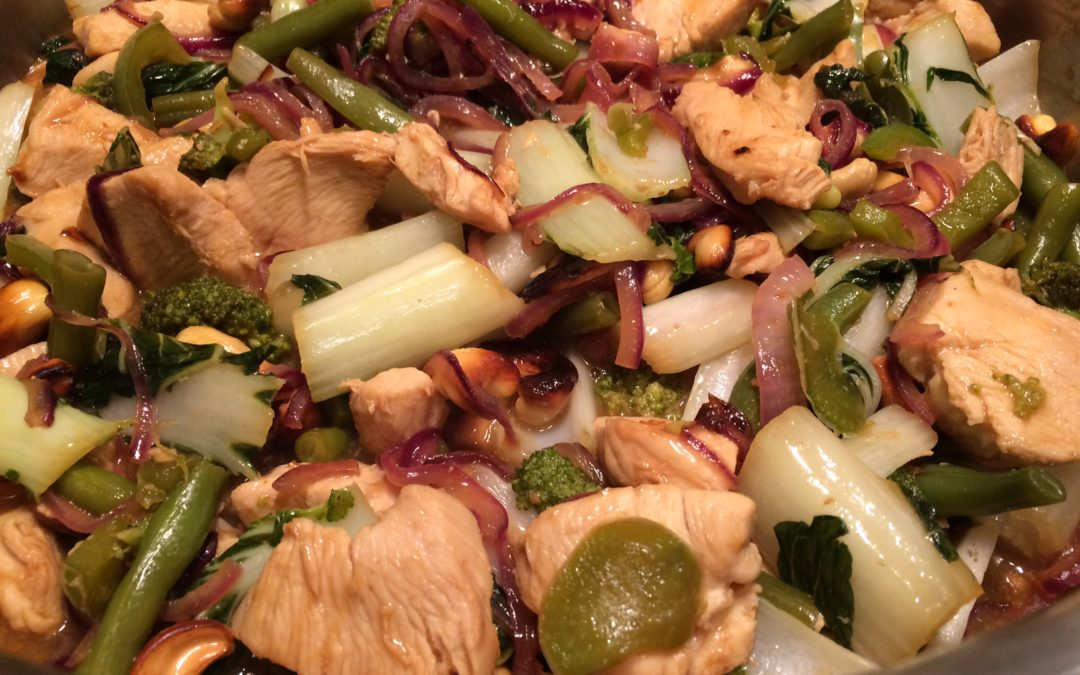 Chicken and Cashew Stir Fry with Vegetable Medley
