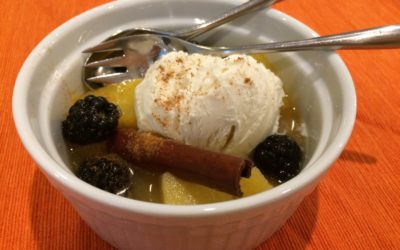 Poached Pineapple with Winter Spices